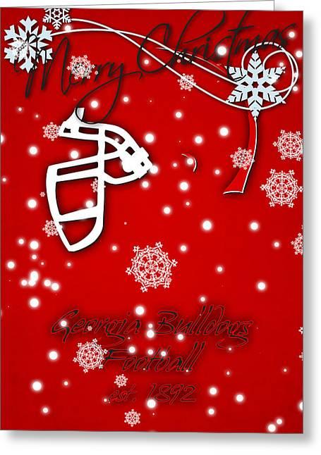 Georgia Bulldogs Christmas Card Greeting Card by Joe Hamilton