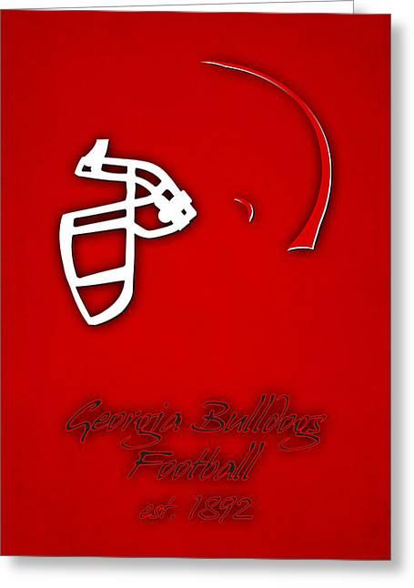 Georgia Bulldogs Helmet Greeting Card by Joe Hamilton