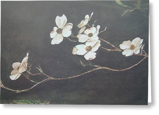 Recently Sold -  - First-lady Greeting Cards - Georgia Dogwood Greeting Card by Charles Roy Smith