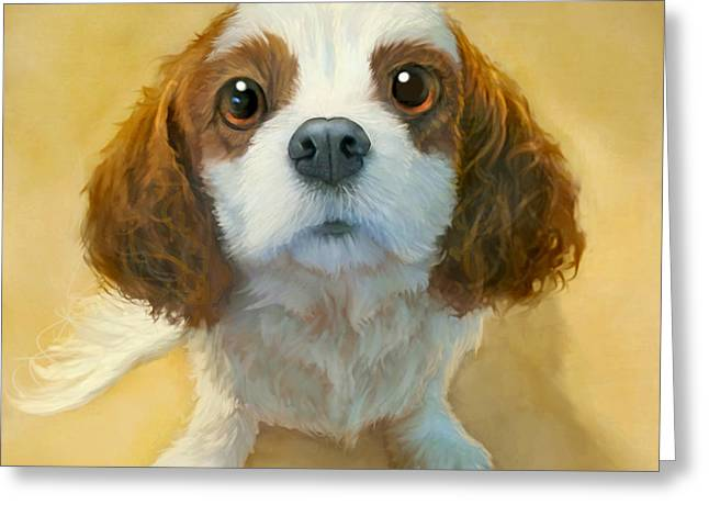 Dog Portraits Greeting Cards - Georgia Greeting Card by Sean ODaniels