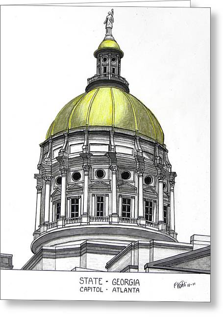 Historic Buildings Greeting Cards - Georgia State Capitol Greeting Card by Frederic Kohli