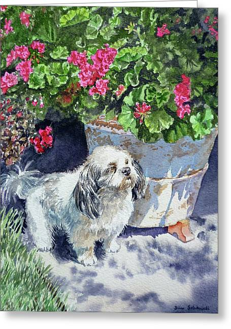 Family Portrait Greeting Cards - Georgie Greeting Card by Irina Sztukowski