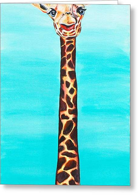 Love The Animal Greeting Cards - Geraldine The Giraffe Greeting Card by Lauren Hammack