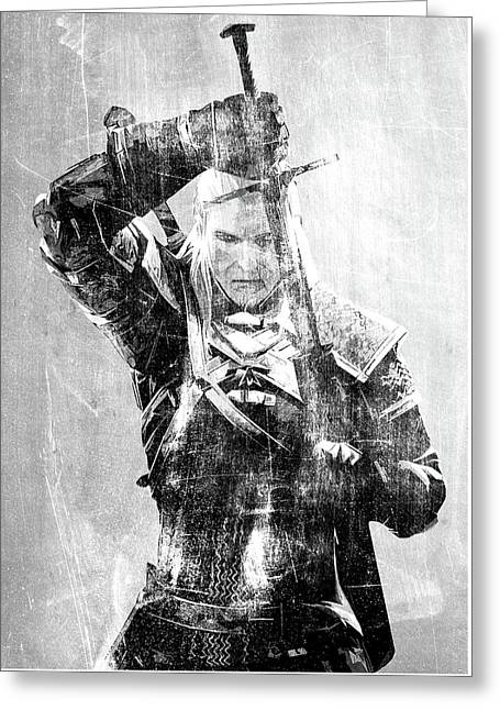 Geralt Of Rivia Greeting Card by Semih Yurdabak
