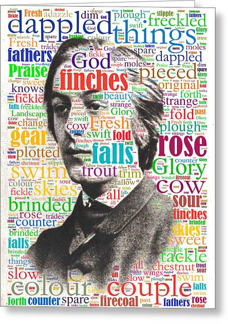 Gerard Manley Hopkins Greeting Card by Eric Edelman