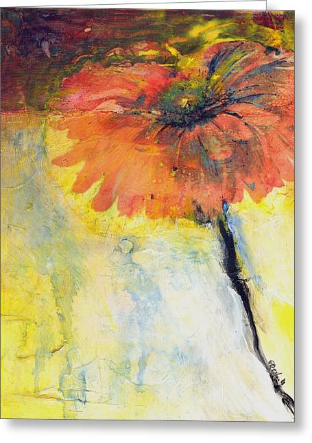 Gerber Daisies Greeting Cards - Gerber Daisy 1 Greeting Card by Gary Deslauriers