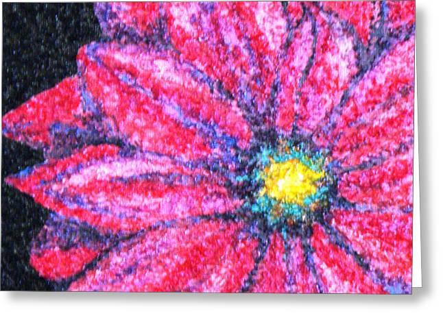 Warm Tones Greeting Cards - Gerber Daisy Greeting Card by Amanda Schambon