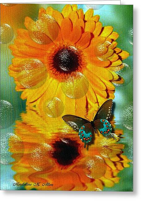 Smudgeart Greeting Cards - Gerber Daisy Greeting Card by Madeline  Allen - SmudgeArt