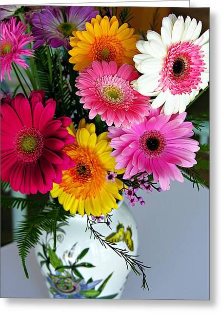 Marilyn Hunt Greeting Cards - Gerbera Daisy Bouquet Greeting Card by Marilyn Hunt