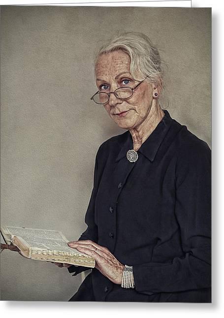 Portrait Photographs Greeting Cards - Gerda Greeting Card by Ellen Van Deelen