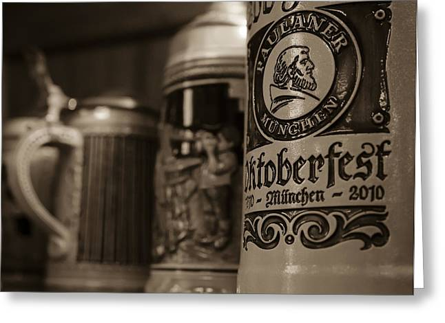Stein Greeting Cards - German Beer Steins in Milwaukee Greeting Card by Deb Barchus