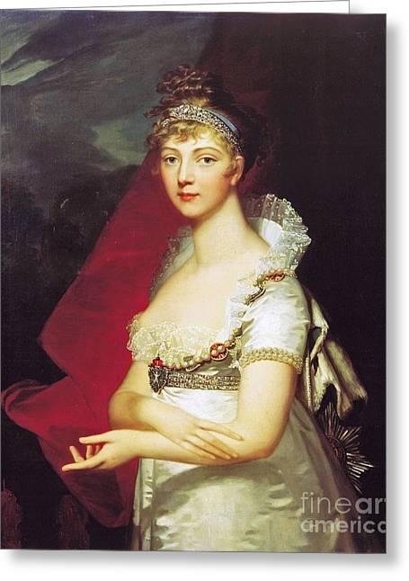 German Born Princess Louise Of Baden Greeting Card by Jean Laurent