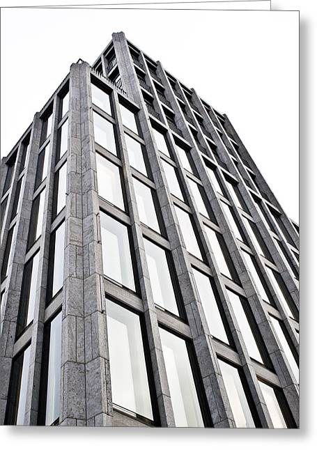 Conditions Greeting Cards - German Building Greeting Card by Tom Gowanlock