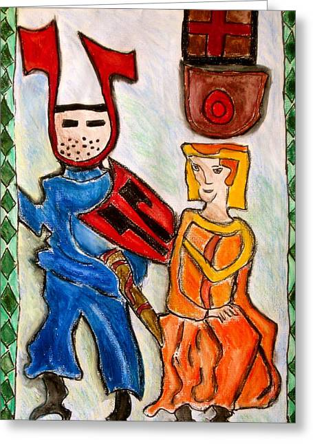 Knights Castle Paintings Greeting Cards - German Castle Painting Greeting Card by Susan Stader