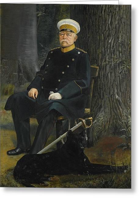 German Chancellor Otto Von Bismarck Greeting Card by MotionAge Designs