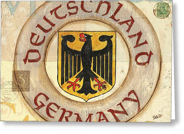 Golds Greeting Cards - German Coat of Arms Greeting Card by Debbie DeWitt