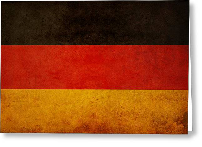 Deutschland Photographs Greeting Cards - German Flag Greeting Card by Ryan Wyckoff