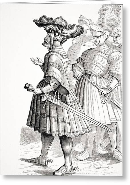 Apparel Greeting Cards - German Knights Of The 15th Century From Greeting Card by Ken Welsh