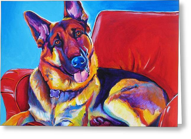 Alicia Vannoy Call Paintings Greeting Cards - German Shepherd - Zeke Greeting Card by Alicia VanNoy Call