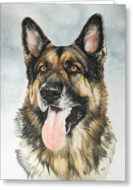 Working Dog Greeting Cards - German Shepherd Greeting Card by Barbara Keith