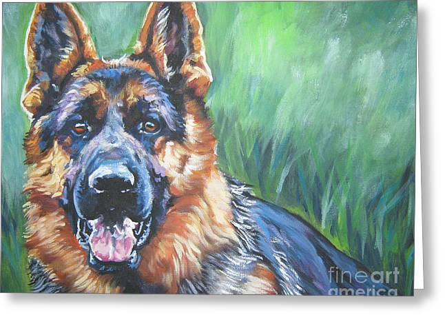 Gsd Greeting Cards - German Shepherd Greeting Card by Lee Ann Shepard