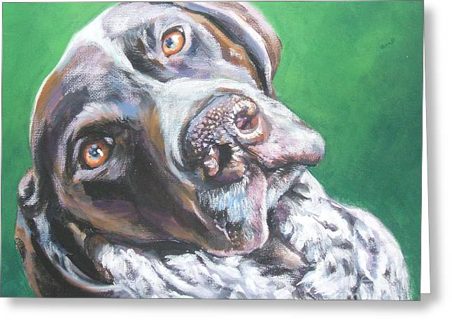 German Shepard Dogs Greeting Cards - German Shorthaired Pointer Greeting Card by Lee Ann Shepard