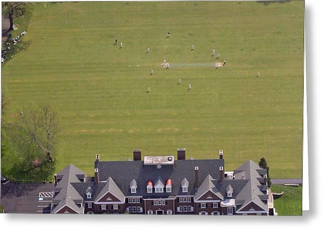 Germantown Cricket Club Courtyard Greeting Card by Duncan Pearson
