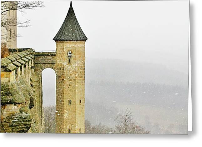 Germany - Elbtal from Festung Koenigstein Greeting Card by Christine Till