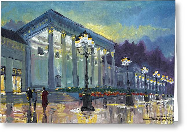 Germany Baden-baden Casino Greeting Card by Yuriy  Shevchuk