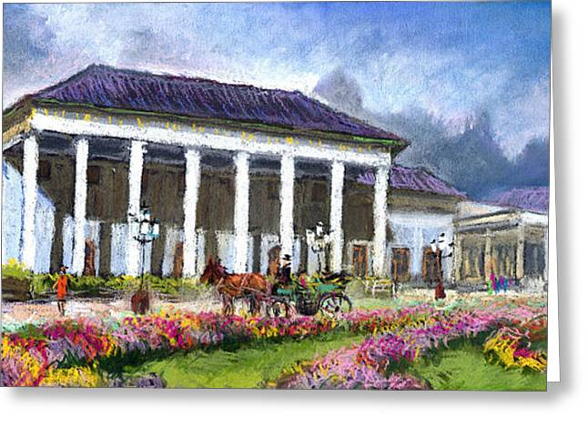 Germany Baden-baden Kurhaus Kasino Greeting Card by Yuriy  Shevchuk
