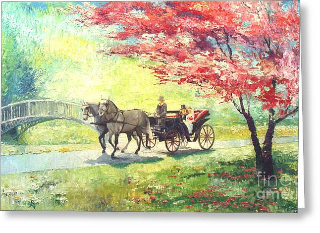 Germany Baden-baden Lichtentaler Allee Spring 2 Greeting Card by Yuriy  Shevchuk