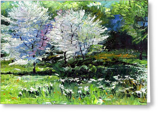 Germany Baden-baden Spring 2 Greeting Card by Yuriy  Shevchuk