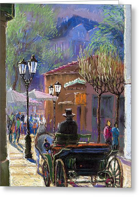 Cabs Greeting Cards - Germany Baden-Baden Spring  Ray Greeting Card by Yuriy  Shevchuk