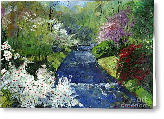 Germany Baden-baden Spring Greeting Card by Yuriy  Shevchuk