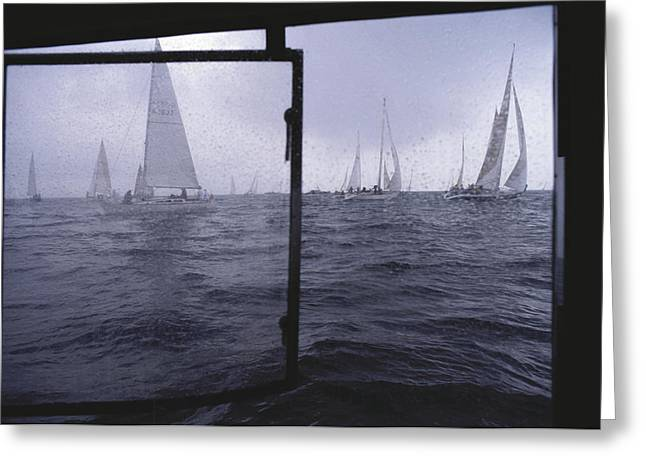Boats On Water Greeting Cards - Germany, Kiel, View Through Race Greeting Card by Keenpress