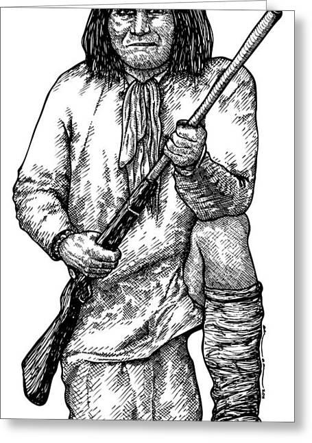 Geronimo Greeting Card by Karl Addison
