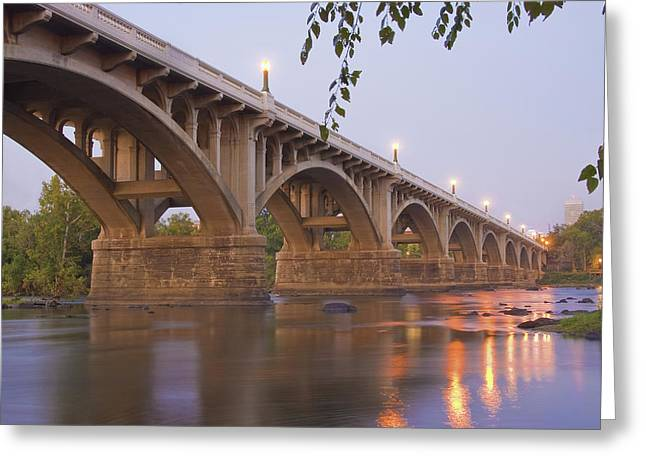 Pictures Photographs Greeting Cards - Gervais Bridge Greeting Card by Steven Richardson