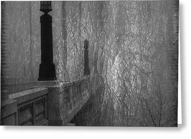 Gervais Street Bridge Bnw Artistic Greeting Card by Skip Willits