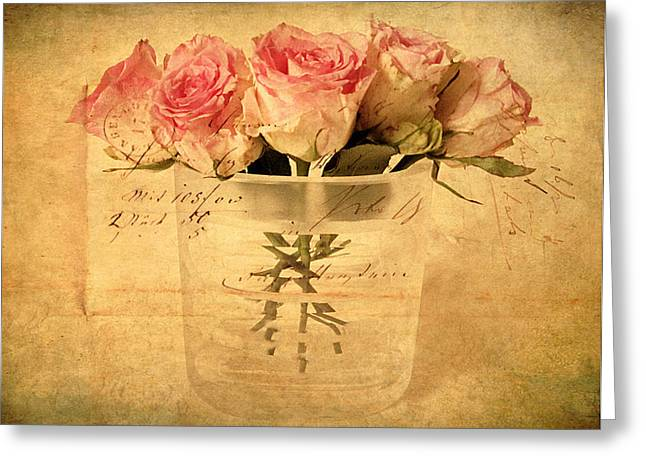 Vintage Floral Greeting Cards - Gesture Greeting Card by Jessica Jenney