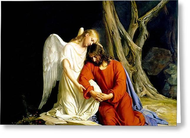 Gethsemane Greeting Card by Carl Bloch