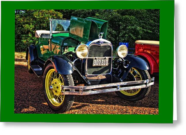Ford Model T Car Greeting Cards - Gettin Ready To Cruise Greeting Card by Thom Zehrfeld
