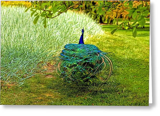 Blue And Green Greeting Cards - Shake your groove thing Greeting Card by Geraldine Scull