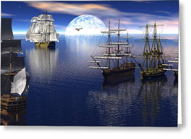 Tall Ships Greeting Cards - Getting underway Greeting Card by Claude McCoy