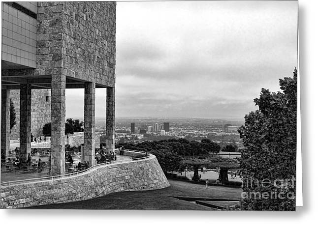 Getty Greeting Cards - Getty Blk n Wht Greeting Card by Chuck Kuhn
