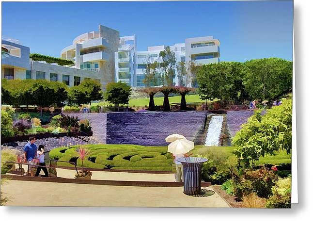 Getty Greeting Cards - Getty Gardens Greeting Card by Ricky Barnard