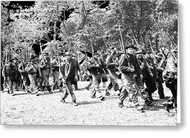 Bayonet Digital Art Greeting Cards - Gettysburg 135th Marching Bayonet Greeting Card by Kay Sawyer