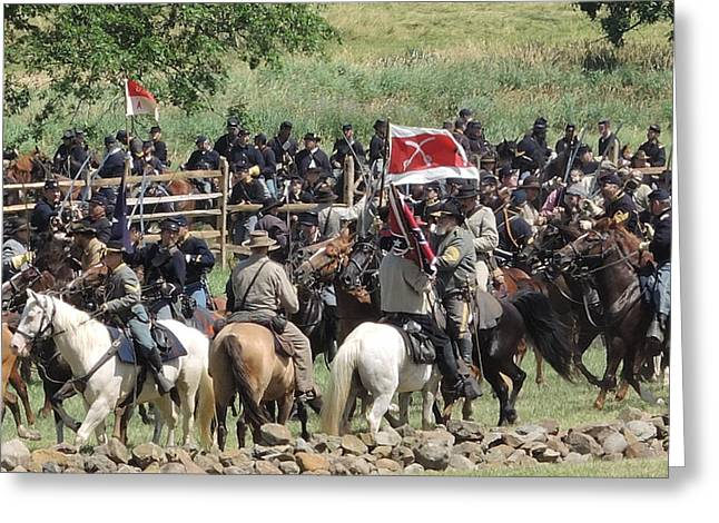 Calvary Greeting Cards - Gettysburg 150th Anniversary Greeting Card by Cracked Lens Studio