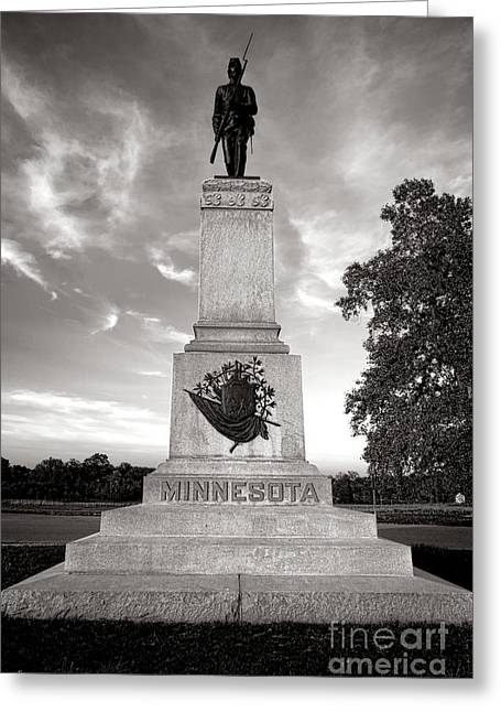 Pa Greeting Cards - Gettysburg National Park 1st Minnesota Infantry Monument Greeting Card by Olivier Le Queinec