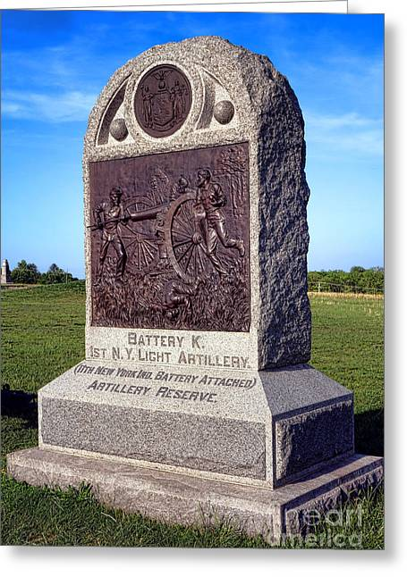 Pa Greeting Cards - Gettysburg National Park 1st New York Light Artillery Memorial Greeting Card by Olivier Le Queinec