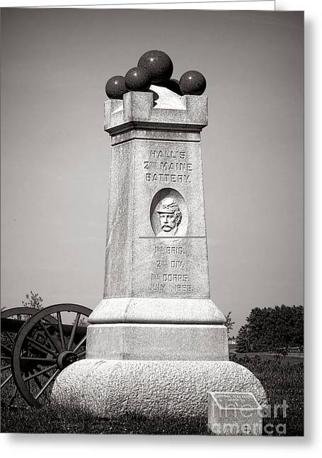 2nd Brigade Greeting Cards - Gettysburg National Park 2nd Maine Battery Monument Greeting Card by Olivier Le Queinec